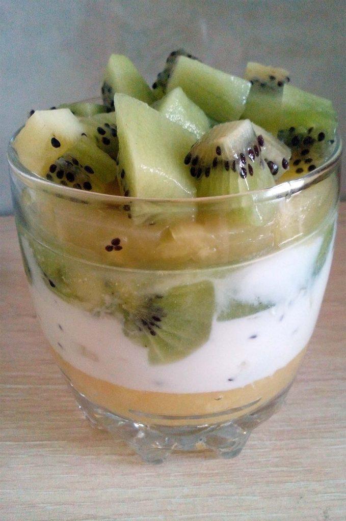 Smoothie de kiwi y piña