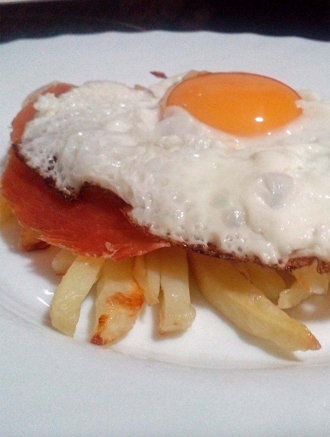 Patatas con huevo y jamón Fitness