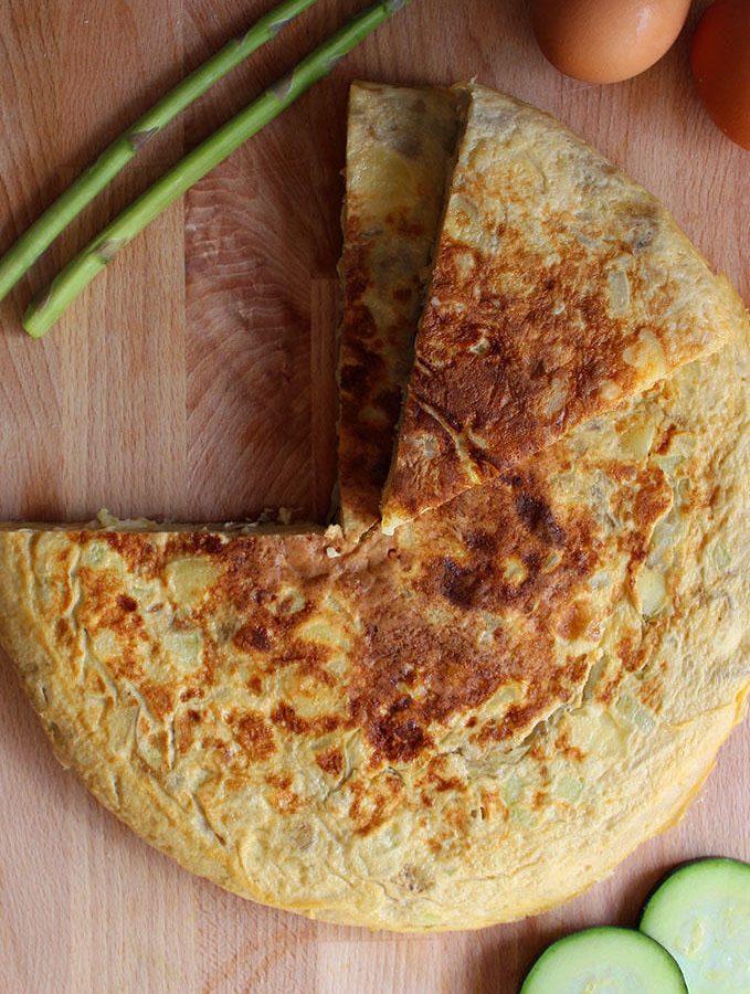 Tortilla de patatas y calabacín Fitness