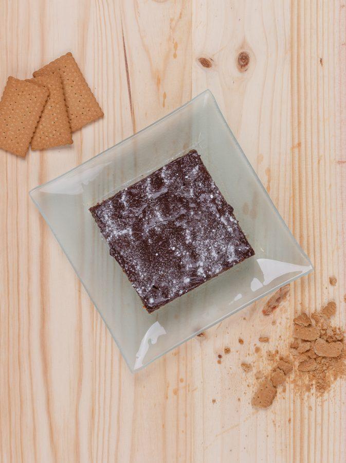tarta de galletas y chocolate fit
